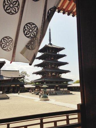 Horyuji Temple Pagoda