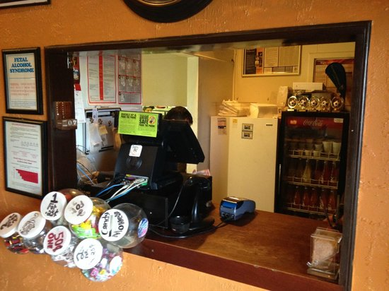 Carlito's Mexican Restauran: Carry out window, inside at the entrance