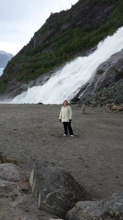 Nugget Falls: Me at the base of the falls