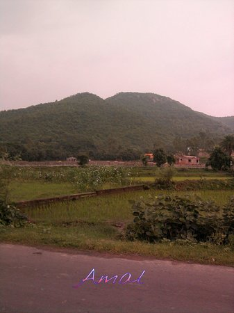 Bankura, Indie: Its susunia hill from the western side.