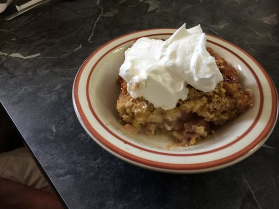 Deaner's Diner : Rhubarb crisp( I think that's what it was called)