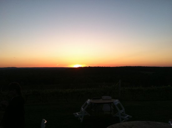 Gouveia Vineyards: Romantic setting sun!