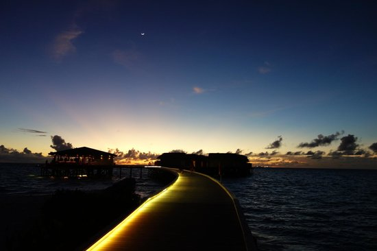 Centara Ras Fushi Resort & Spa Maldives : 夜景, 正