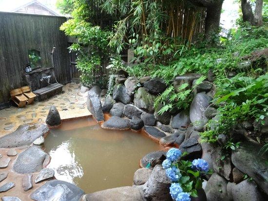 Hirayama Ryokan: お部屋の露天風呂(特別室「月」)