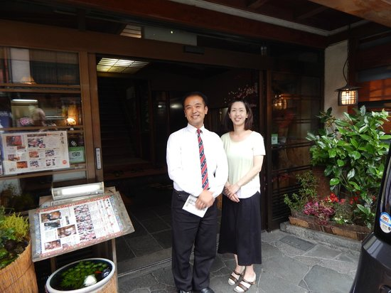 Morizuya: Owner Takayuki Hachisuka and his wife