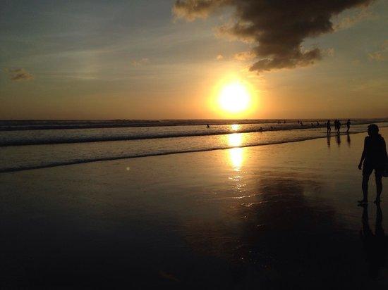 Seminyak Beach: first day sunset..