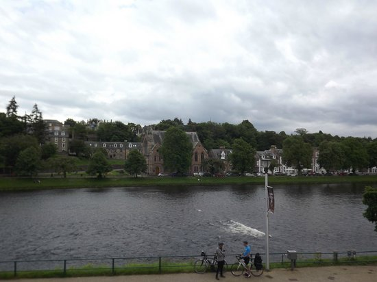 Strathness House: View from the room of the River Ness