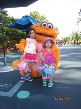 Sesame Place: on the street