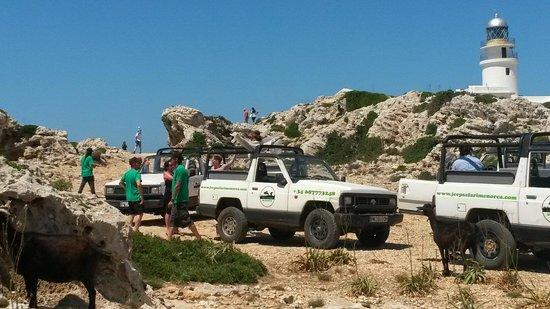 Jeep Safari Menorca : Al faro