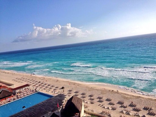 Crown Paradise Club Cancun: View from club room.
