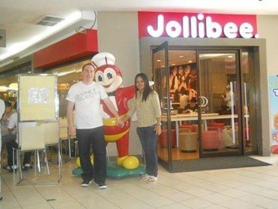 Jollibee: Damien Auksorius outside jolibee