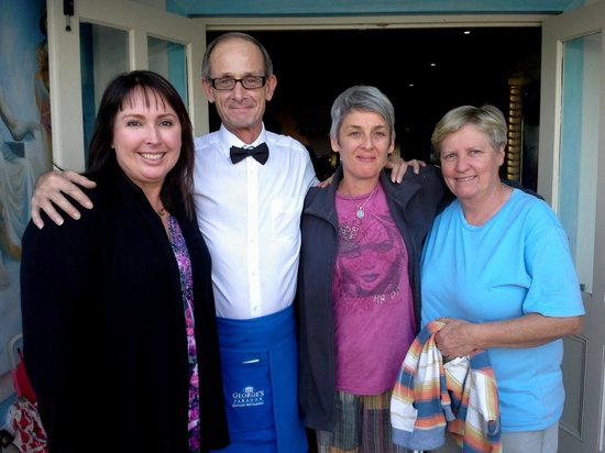 George's Paragon Seafood Restaurant Mt. Tamborine: That's us with our waiter: Mark. He is #1