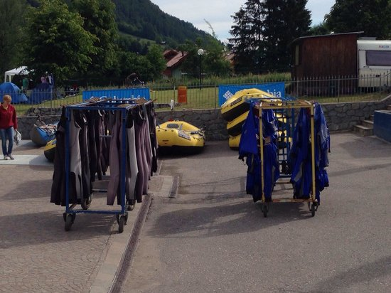 Rafting Center Val di Sole: Piazzale