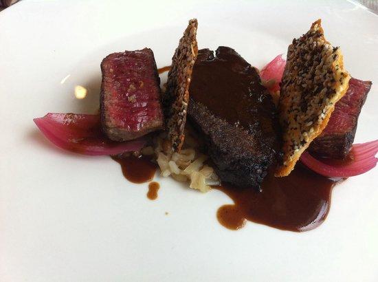 Restaurant Ilura : Le bœuf: joue et filet