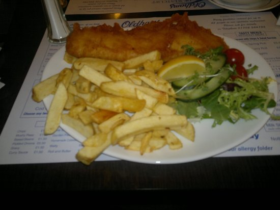 Oldham's Fish Restaurant: Proper Fish & Chips!!!