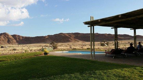 Sossus Oasis Camp Site : Swimming pool at the campsite