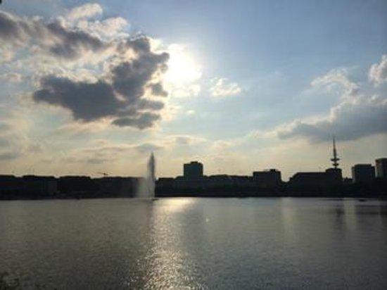 Crowne Plaza Hamburg - City Alster: El lago cerca del hotel