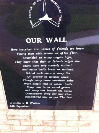 Battle of Britain Memorial: The who,