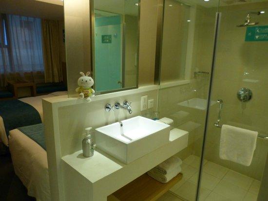 Xian Skytel Hotel: Offenes Badezimmer