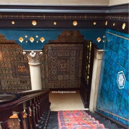 Leighton House Museum and Art Gallery: Stairs from the Arabic Hall to the Studio upstairs