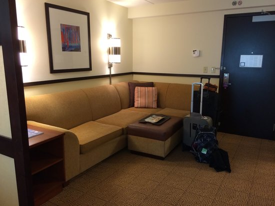 Hyatt Place Ft. Lauderdale Airport & Cruise Port : Living area
