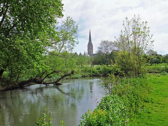 Salisbury Cathedral and Magna Carta: The Cathedral viewed across the Avon