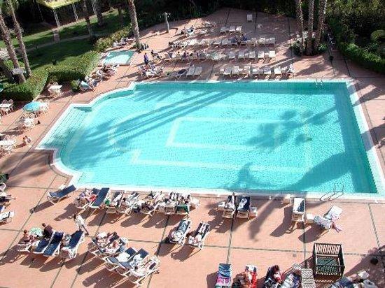 Hotel Argana : vue sur piscine depuis notre chambre