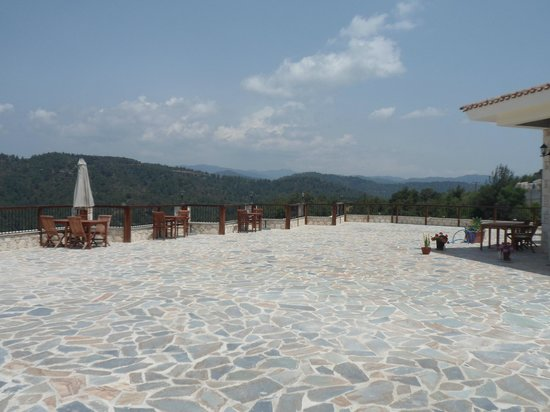 Paradisos Hills: Large terrace area in front of large banqueting hall