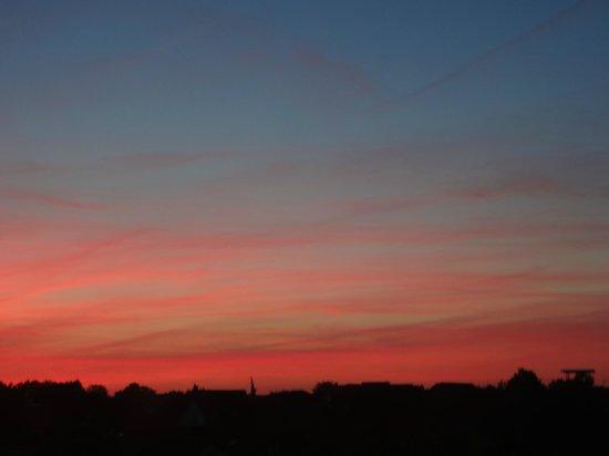 Hotel Heidelberg: tramonto (alle 20.00 c'è ancora il sole)