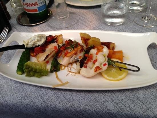Ristorante Terrazza Barchetta : calamari skewers... amazing