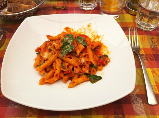 Al Cortile: Garganelli all Arrabbiata