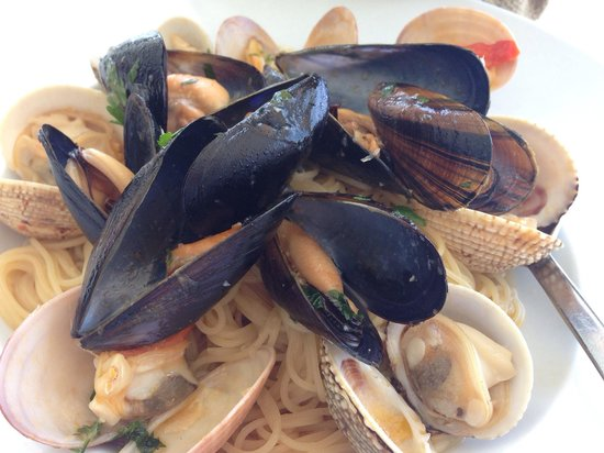 Hippie Fish: Clam capellini - the shellfish was sweet and the pasta totally soaked up the seafood broth. Must