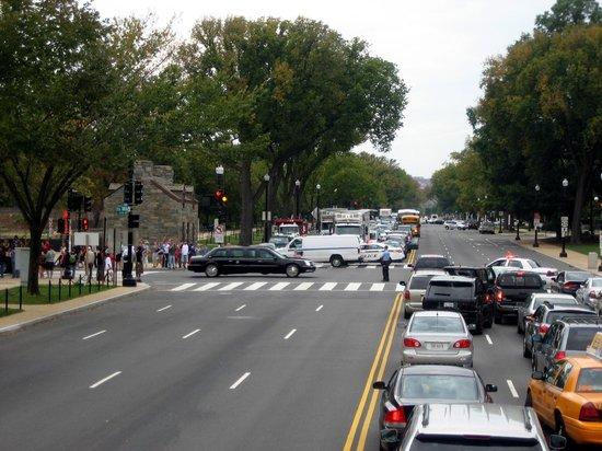 Big Bus Washington DC : Extra Big Bus Stop: Der Präsident hat Vorfahrt