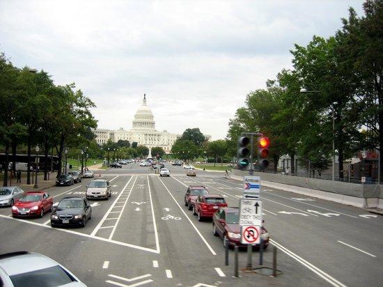 Big Bus Washington DC : Big Bus View: Pennsylvania Ave und Capitol