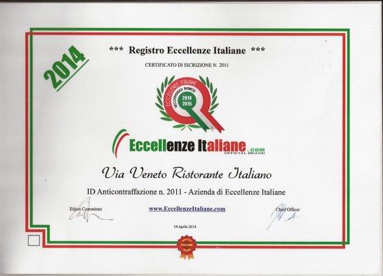 Via Veneto Ristorante Italiano: eccellenze