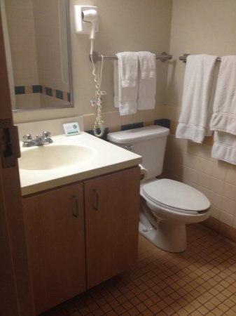 Navy Gateway Inns & Suites: Bathroom - room 213 (very clean, no mold and and excess of clean towels)