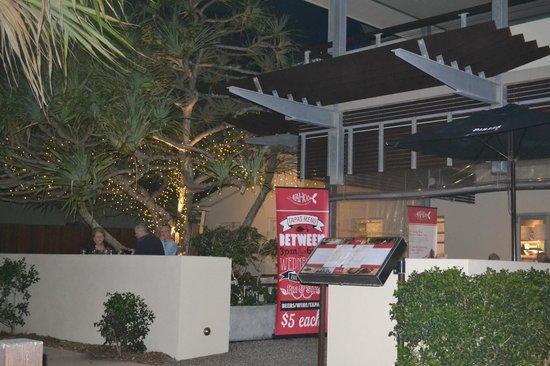 Wahoo Seafood Restaurant and Take-away : under the pandanus