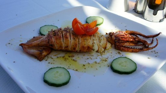 Yalos: Calamari stuffed with feta cheese
