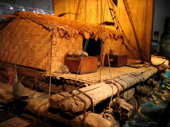 The Kon-Tiki Museum: The hut on board Thor has lived in
