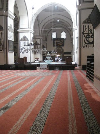 The Great Mosque: the brightly lit interior