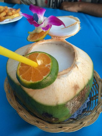 After Beach Bar: Cocunut Drink