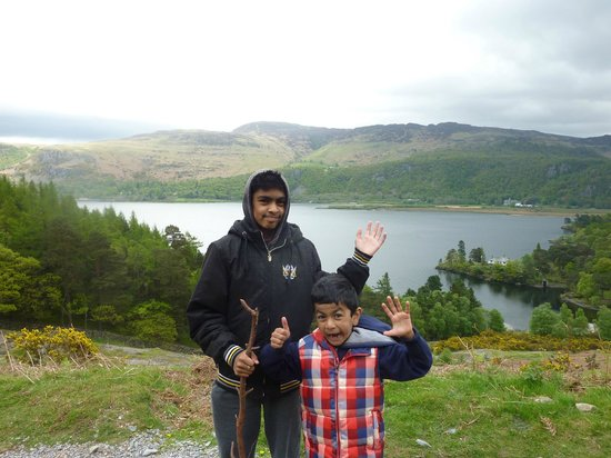 Thirlmere in the Lake District: Children had fun at Keswick.