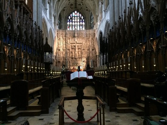Winchester Cathedral: Choir stalls