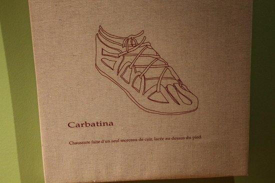 chaussure romaine romaine romaine Photo de Espace gallo romain 706a4c