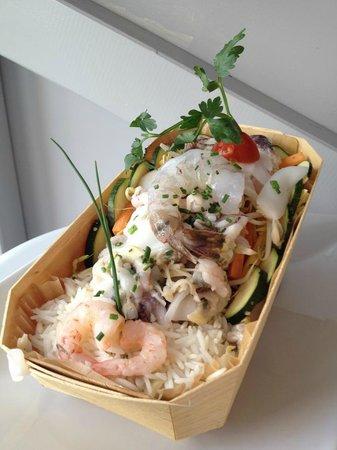 Marterey 56 : Riz Basmati farandole de légumes aux Fruits de mer