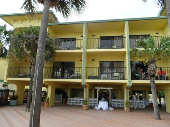 Sirata Beach Resort: View of room from beach