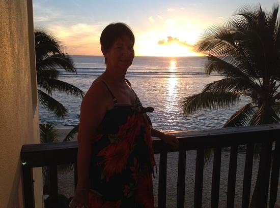 The Edgewater Resort & Spa: Another beautiful sunset from the balcony