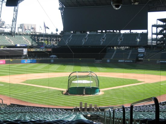 Safeco Field: Behind home plate
