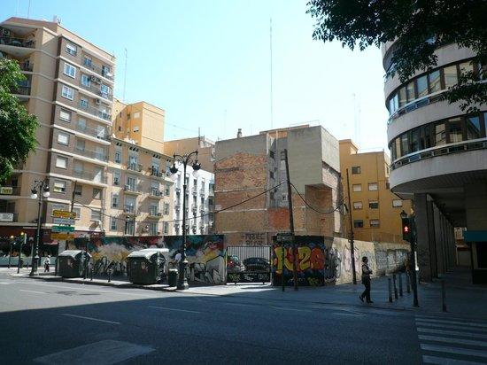 Valenciaflats Centro Ciudad: anche la zona attorno era un po' trasandata