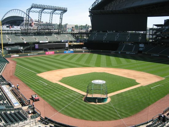 Safeco Field: High above the stadium